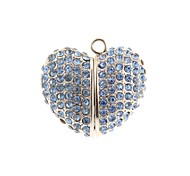 ZP 16GB Blue Jewel Heart Pattern Bling Diamond Metal Style USB Flash Drive