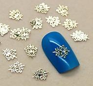 200шт старинных королевский дизайн золотой металл ломтик ногтей украшения