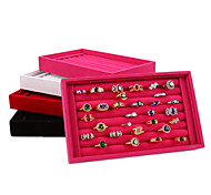 Classic Slap-up Earrings Ring Stand Multicolor Paper Acrylic Flannelette Jewelry Boxes(1 Pc)(More Color)