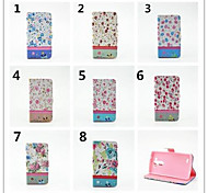 Floral Drill Pattern PU Leather Full Body Case with Stand and Card Slot for Sony Xperia Z2