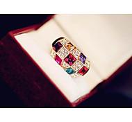 Noble Austrian Diamond Color Ring (USA Size 5) (1 PC)