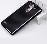 Protective Carbon Fiber + Plastic Back Case for  LG G3 (Assorted Colors)