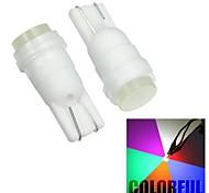 Merdia T10 1W High Performance LED Colorful Car Reading Light / Side Light (12V / Pair)