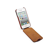 Ultra Thin Design Geniune PU Leather case for iphone 4/4S