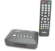 Jesurun MP018 Mini 1080P Full HD Media Player with HDMI / USB / SD / AV / Yprpb (Black)