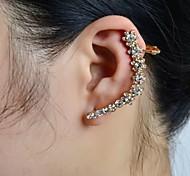pedra conjunto flor orelha manguito