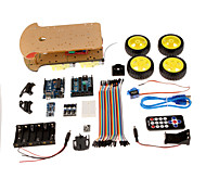 4 In 1 Smart Car Kit Tracking Obstacle Avoidance Fall Prevention Telecontrol For Arduino