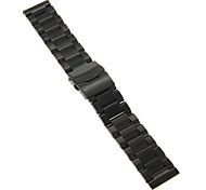 22mm High Quality Black/Gold Precise Stainless Steel Watchband