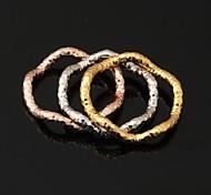 u7® anneaux triples 3 couleurs jaune or rose 18 carats plaqué platine bandes multicouches anneaux pour les femmes des hommes