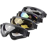 OBAOLAI Anti-UV Anti-Wear Snow Googgles Black Frame Gray Sensor Mirror Lens