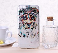 Lion Pattern TPU Soft Case for iPhone 6
