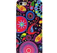 Jellyfish Pattern Up and Down Leather Hard Case for iPhone 5/5S/5G