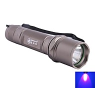 ZHISHUNJIA LED 415nm 5-Mode 1xLED Ultraviolet UV LED Flashlight (1 x 18650,Grey)