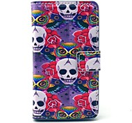 Owl Cool Skull Pattern PU Leather Cover Full Body Case with Card Slot for Nokia Lumia N520