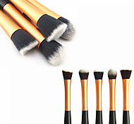 1PCS Golden Nylon Hair Aluminium Handle Makeup Blusher/Foundation/Powder Brush(Random Type,17x3x2cm)