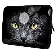 "Elonno Black Cat 15"" Laptop Neoprene Protective Sleeve Case for Macbook Pro Retina Dell HP Acer"