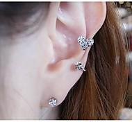 aretes de diamantes clip de oreja bromista dulce amor ms (1pc)