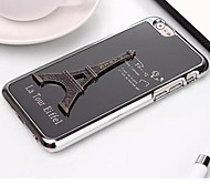 Eiffel Tower  Pattern Brushed Metal Cover for iPhone 6 (Assorted Colors)