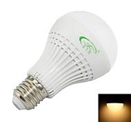 7W E26/E27 Bombillas LED de Globo A60(A19) 27 SMD 3528 600 lm Blanco Cálido Decorativa AC 85-265 V
