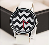 Men's Fashion Contracted Wavy Lines Lines Belt Watch