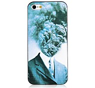 Mushroom Cloud Pattern Black Frame Back Case for iPhone 4/4S