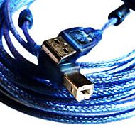 1.5m 4,9 pés USB2.0 um macho para b macho cabo USB2.0 para mp3 e mp4 frete grátis