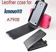 Hot Sale 100% PU Leather Flip Leather Up and Down Case for Lenovo A790E(Assorted Color)