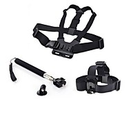 4 in 1 Chest Strap +Head Mount + Handle Monopod Pole +Tripod For GoPro Camera, Sj4000
