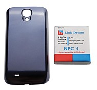 Link Dream   Thickened Cell Phone  Battery with NFC +  Blue  Back Cover for Samsung Galaxy S4 i9500(6000mAh)