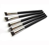 kit escova da sombra kit pincel de maquiagem cabelo sintético 5pcs