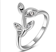 Gorgeous Fashion Jewelry  Silver plated with Rhinestone Rings (one piece)