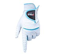 cuero cabritilla blanca + azul 1 par antideslizantes dedo lleno guantes de golf de las mujeres pgm