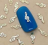 200PCS Musical Note Design Golden Metal Slice Nail Art Decoration