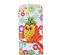 Pineapple Owl Pattern Flip-open PU Leather Cover with Card Slot for iPhone 6