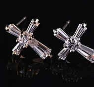 Z&X®  Fashion High Grade Delicate Simple Star Zircon Earrings