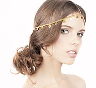 moeda charme cadeia pepita cabelo coroa cabeça para as mulheres