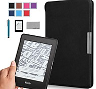 COCO FUN® Ultra Slim PU Leather Case with Screen Protector and Stylus for All Amazon Kindle Paperwhite