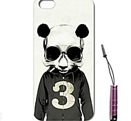 Panda Athletes Pattern Hard Case & Touch Pen for iPhone 4/4S