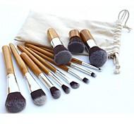 11 in 1 beleuchtet professionelle kosmetische Make-up Pinsel Set braun Kaffee 11 Stück