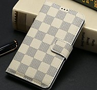 patrón de piel cubierta de la caja tirón de la carpeta de la tela escocesa con el soporte para i9600 samsung galaxy s5