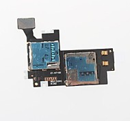 titular de la ranura para tarjeta de memoria sd + micro sim teléfono celular flex cable para Samsung Galaxy Note 2 n7100