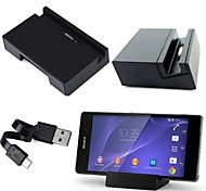 Black Magnetic Desktop Charger Charging Dock Stand Date Sync Cradle Station Holder Cradle for Sony Xperia Z2