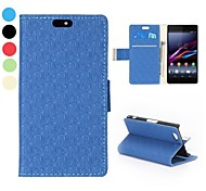 Fashional Maze Pattern Side Flip Stand Wallet PU Leather Case for Sony Xperia A2(Assorted Colors)