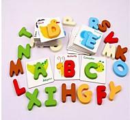 Wood English Letter Card Novelty Educational Toys