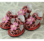 Dog Shoes & Boots White / Pink Summer Mixed Material