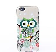 estilo flores corujas padrão de silicone caso macio para iphone 6 / 6s
