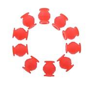 bola alta de doble cabeza de goma anti-vibración elástica para PTZ FPV en rojo (10 piezas)
