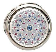 1pcs glänzenden silbernen comestic Spiegel