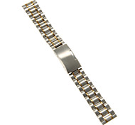 18mm High Quality Silver & Gold Stainless Steel Watchband