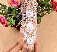 European Fashion Three Roses Lace Bracelets With Ring